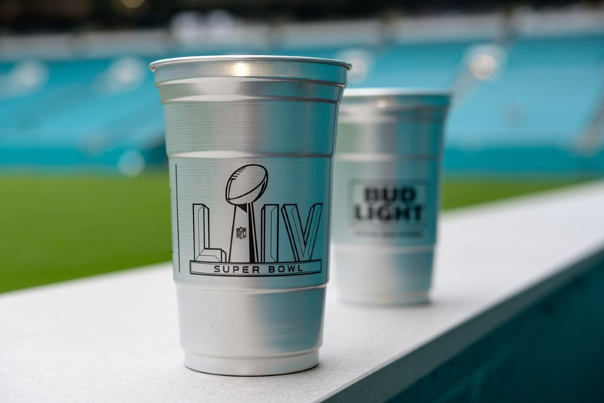 Super Bowl Aluminum Cup