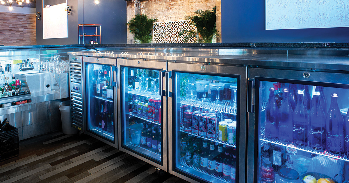 Krowne Crosby Fridge Back Bar Refrigeration