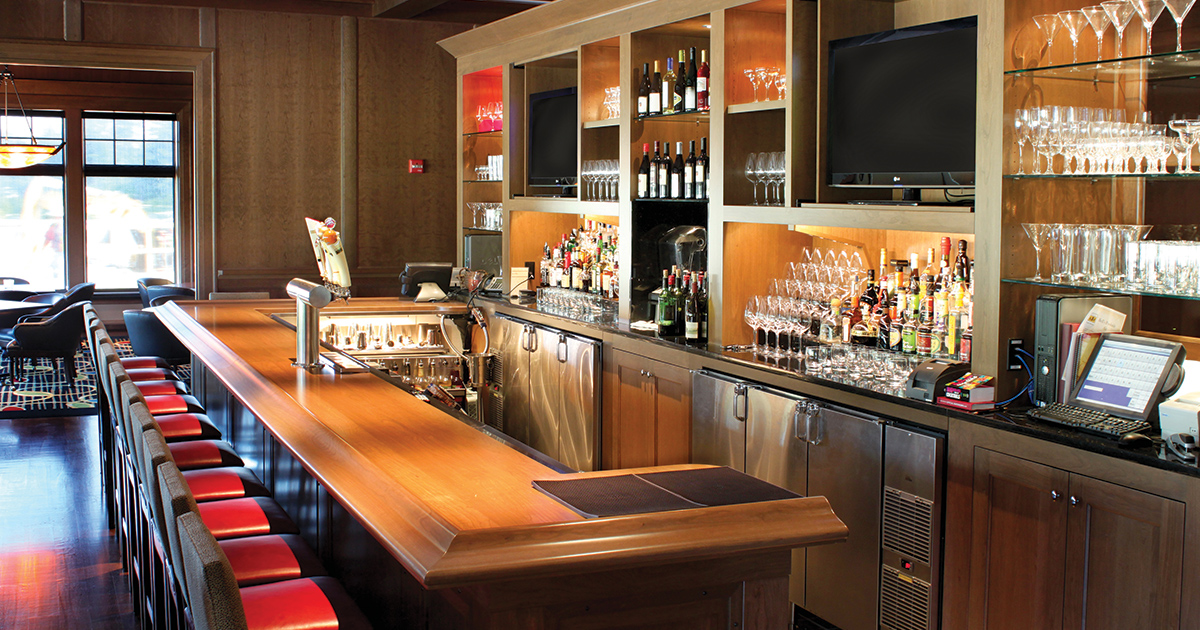 Midland Country Club Glastender Back Bar Refrigeration