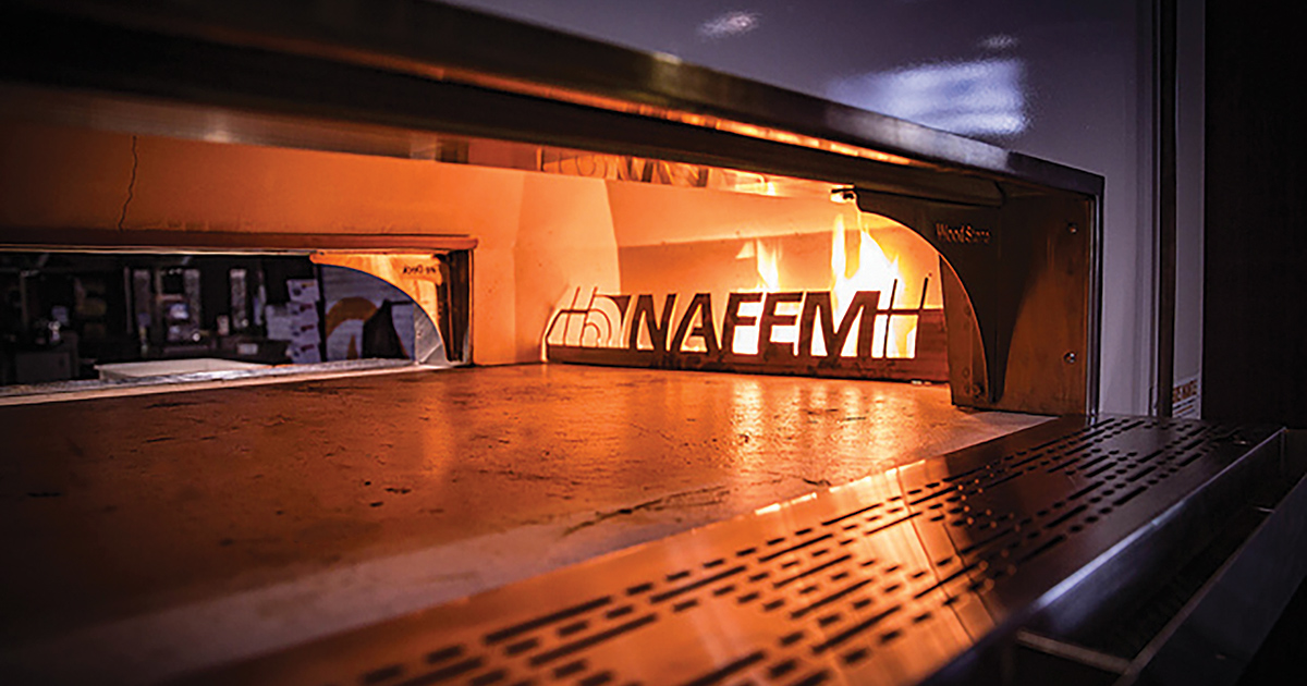 NAFEM Logo Wood Stone Oven