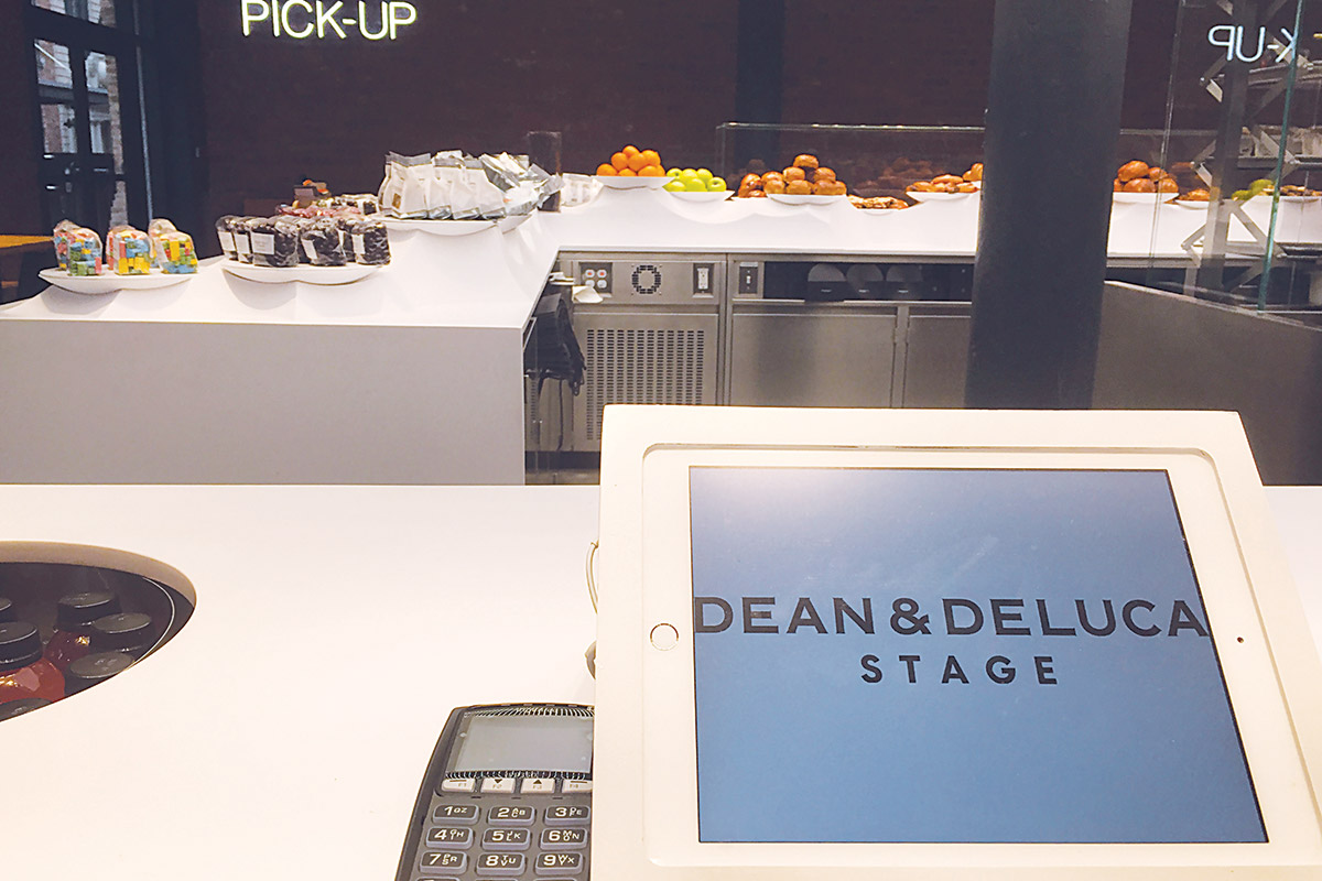 POS Stations at Dean & DeLuca Stage