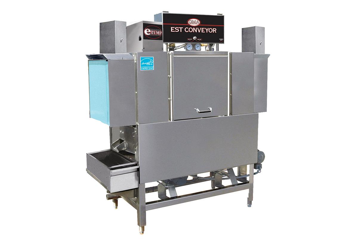 CMA Dishmachines rack-conveyor warewasher with tall opening