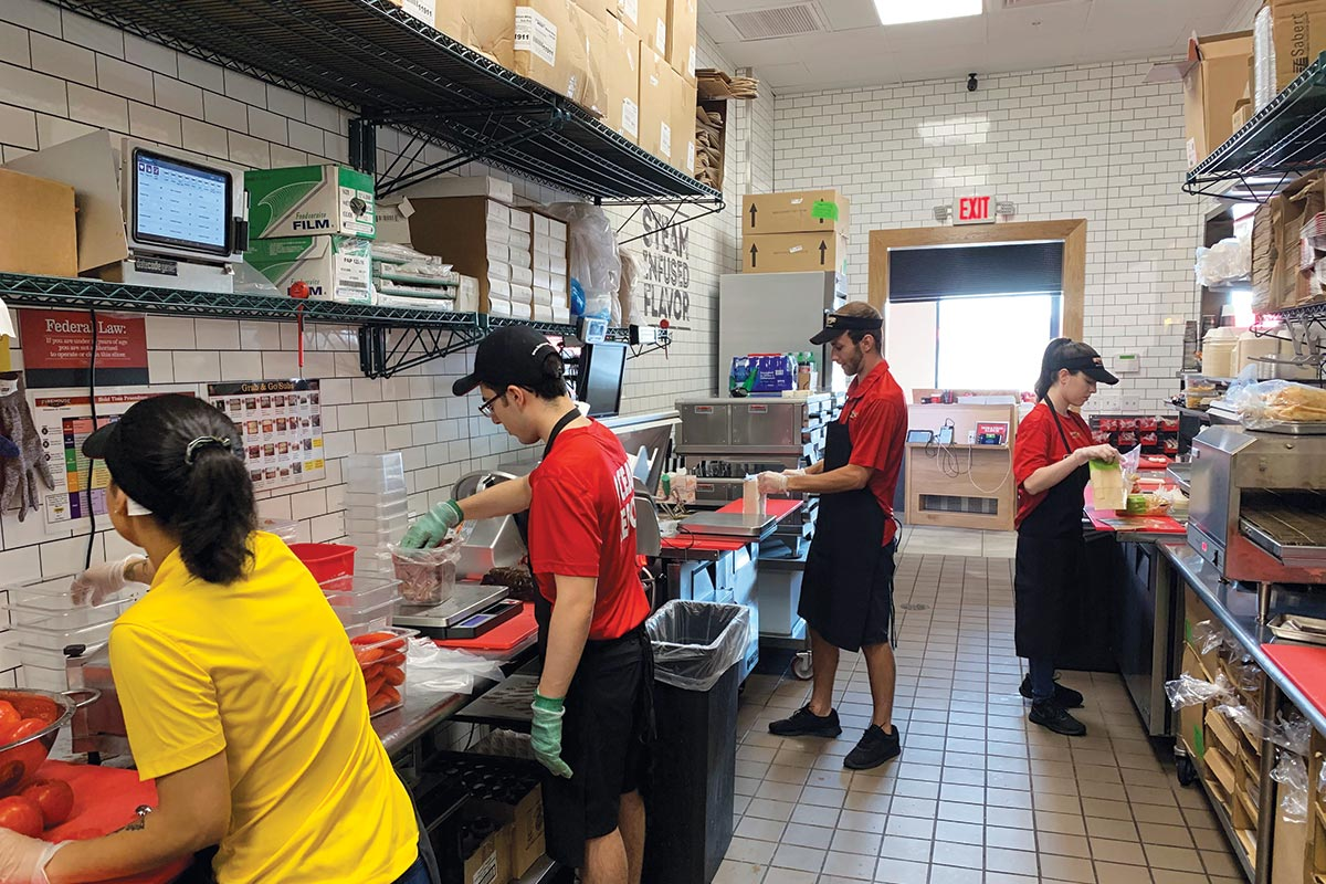 Firehouse Subs Production Line