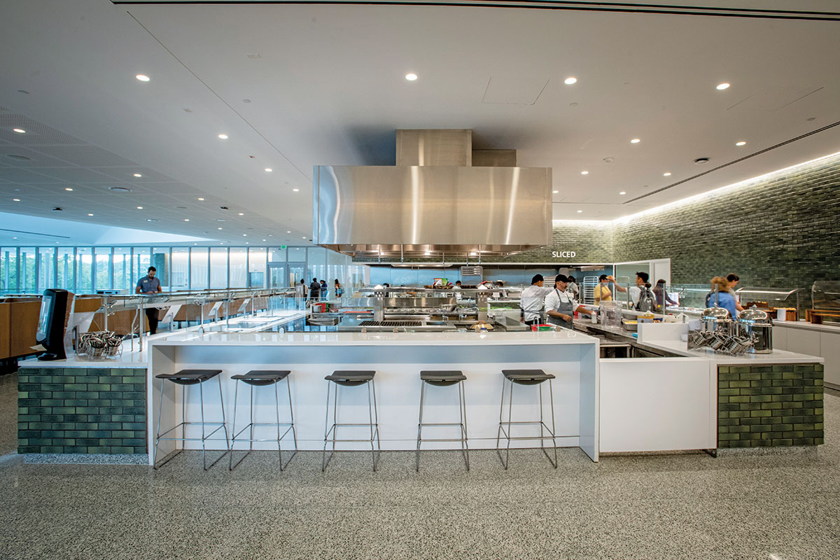 The Commons at Tulane University Chefs Table Island Cooking Suite