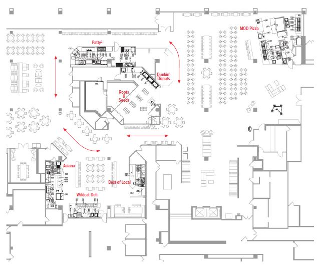 Northwestern University Dining Hall Floor Plan