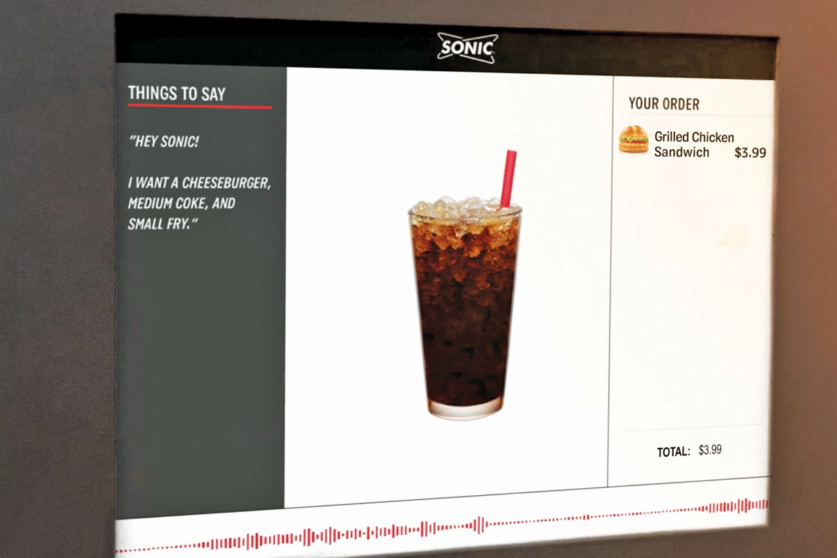 Sonic AI Menu Board
