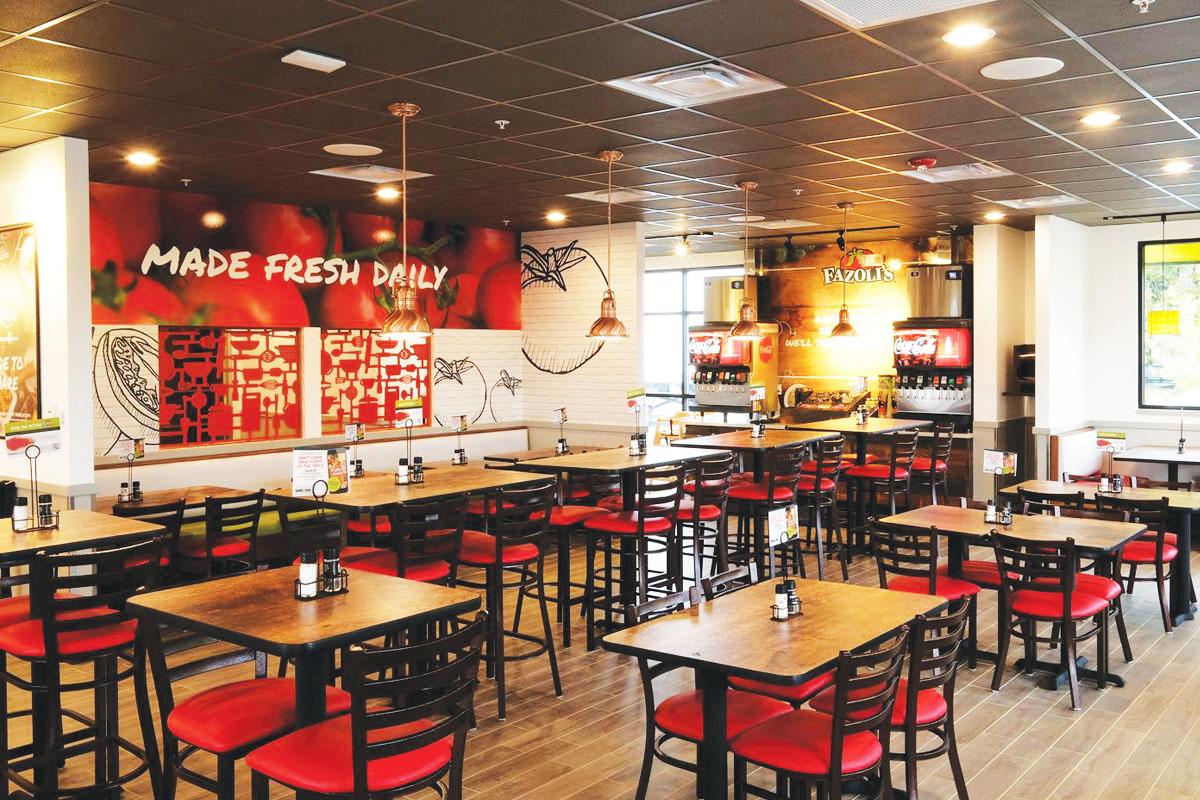 Interior of Fazoli's Restaurant