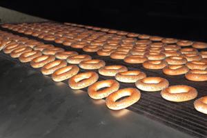 Bagels On Conveyor