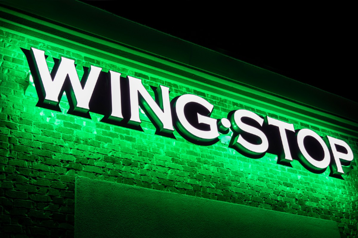 Wingstop Exterior Neon Sign Logo