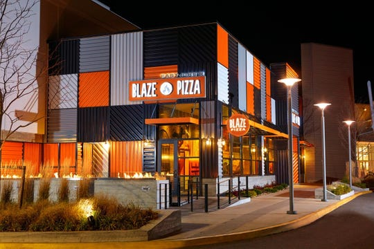 Evening scene at Blaze Pizza