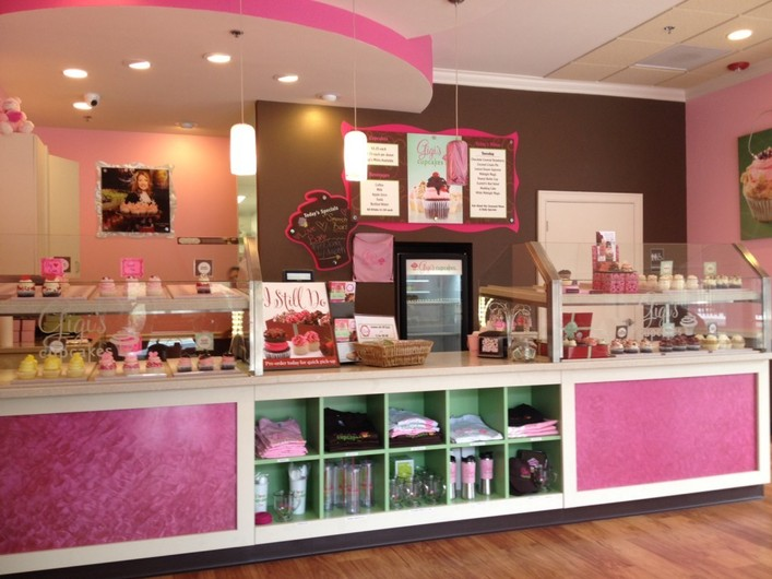 Pink bakery store