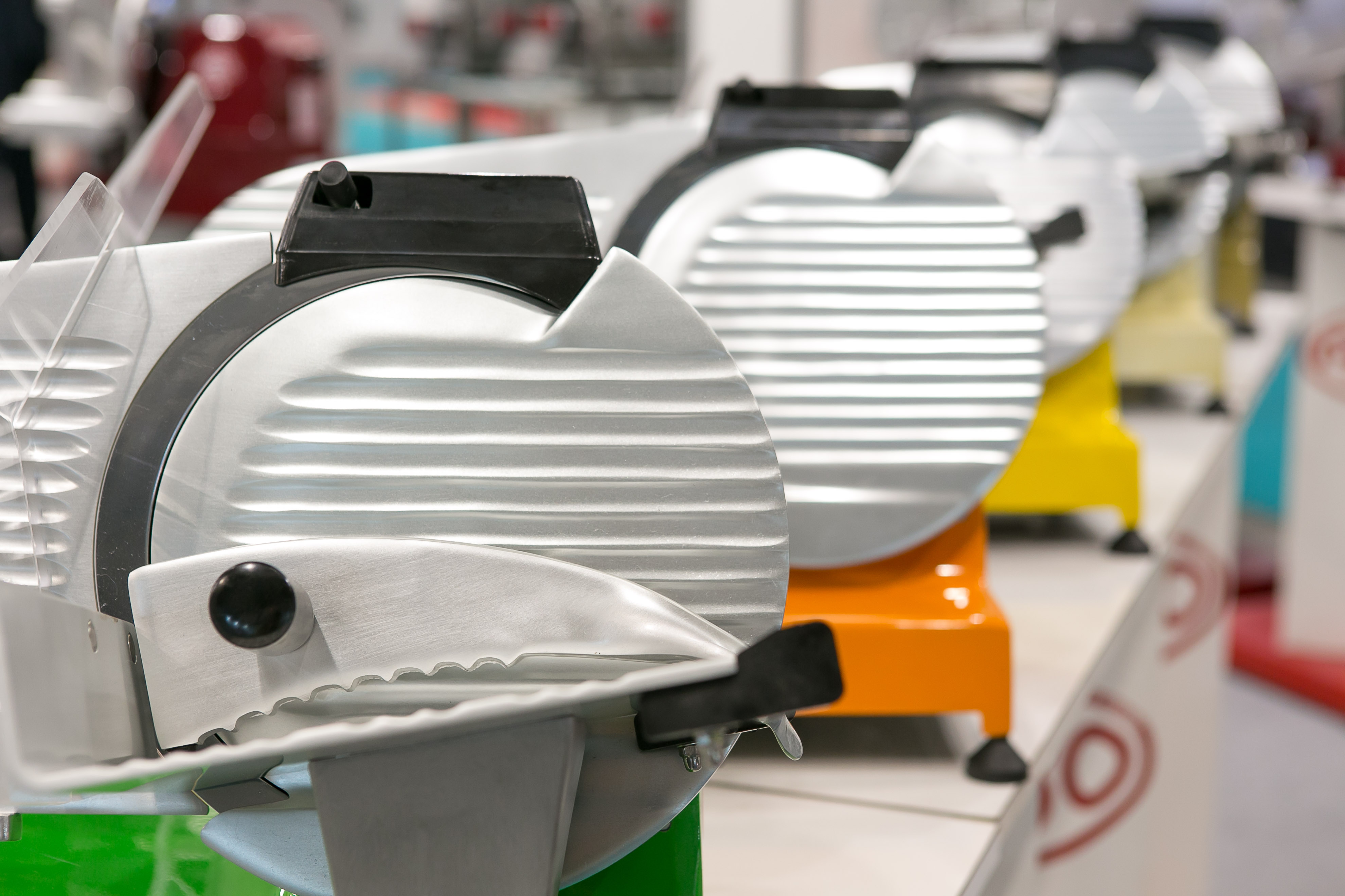 colorful meat slicers