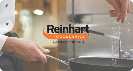 pan cooking vegetable with reinhart logo