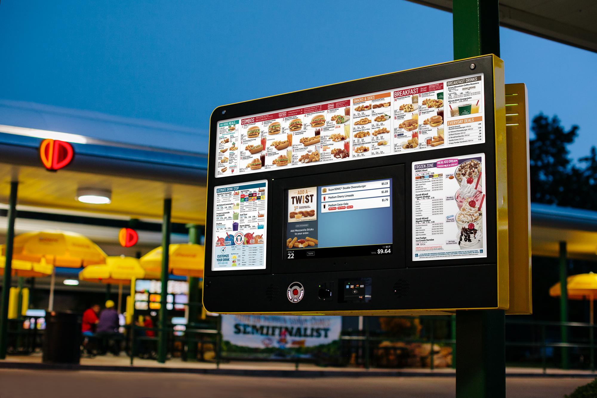 drive-thru menu board