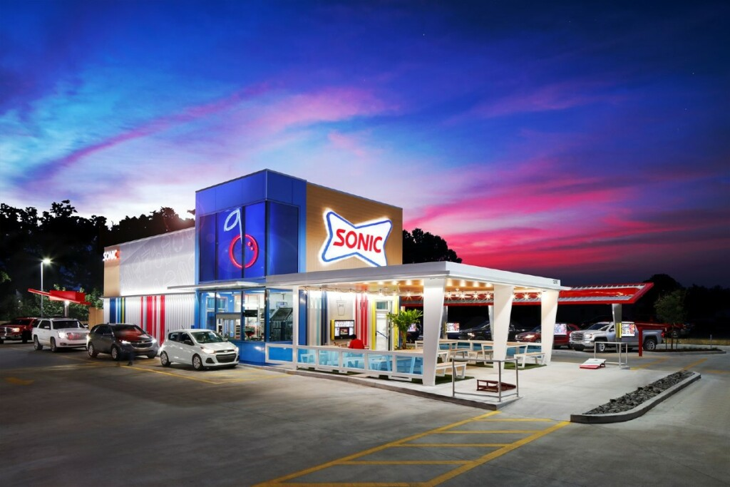 The store is designed to promote efficiency and nod to its signature cherry limeade.