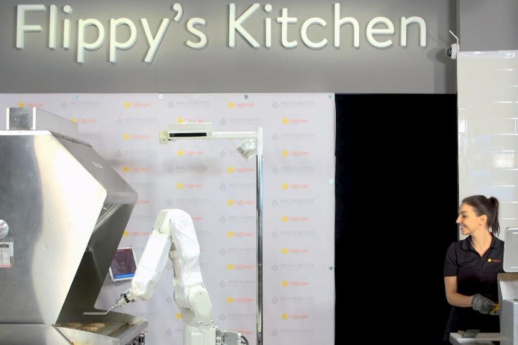 Flippy the Robot.  Photo courtesy of Miso Robotics.