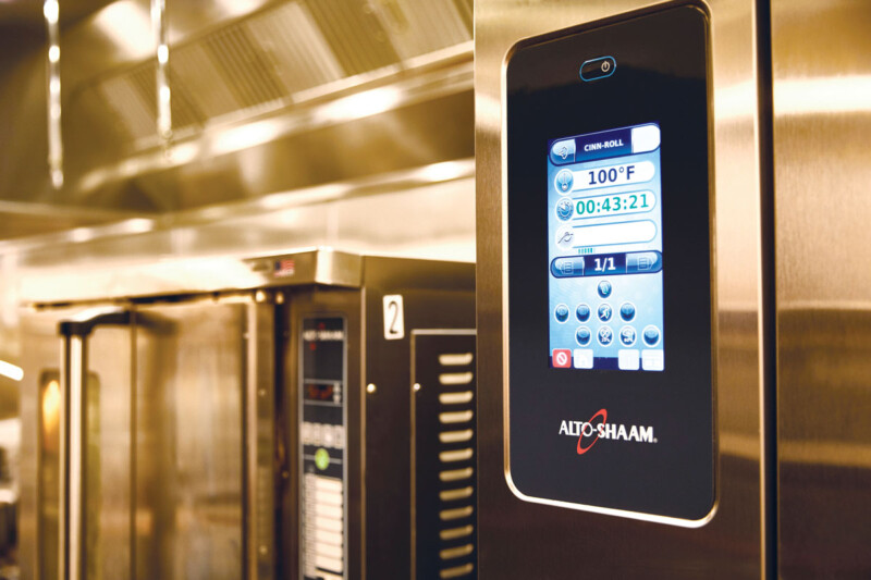 Smart equipment, such as combi ovens, with programmable features can store recipes, so all it takes is the push of a button to prepare foods. Courtesy of Alto-Shaam.