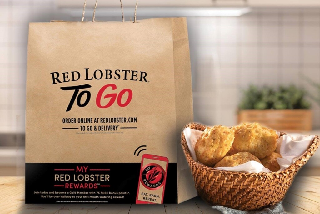 Red Lobster to-go bag