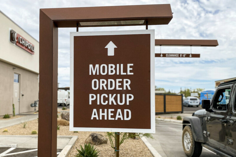 Chipotle Chipotlanes Mobile Order Pickup Sign