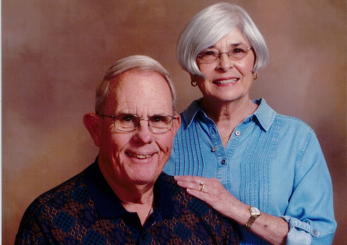 Portrait of Bill Wolfe and wife Kay