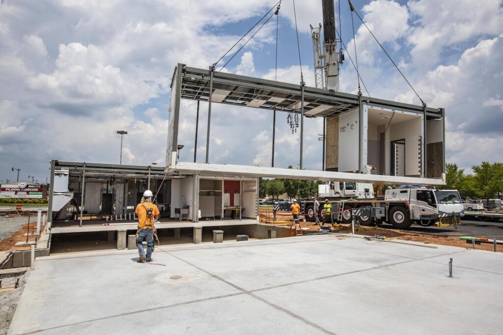 Chick-fil-A's modular construction process improves efficiency. Courtesy of Chick-fil-A.