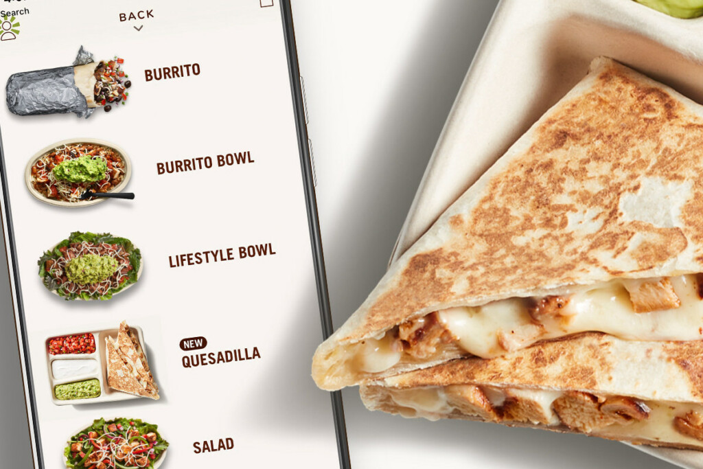 """Chipotle's new digital-order-only quesadilla led to the installation of new ovens at """"nearly all"""" of the chain's stores across the U.S. and Canada. Photo Courtesy of Chipotle"""