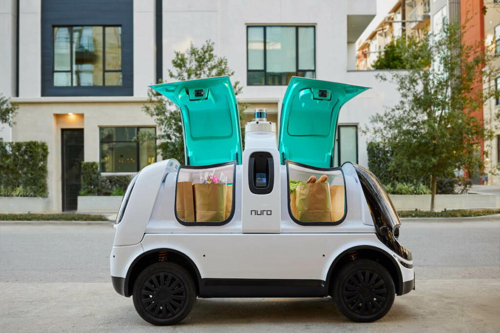 Nuro's R2 is among the unmanned delivery vehicles created by the California-based company. Photo Courtesy of Nuro