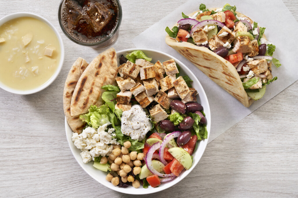 The Simple Greek offers a build-your-own, open kitchen format that enables customers to craft their own pita or bowl full of authentic Greek ingredients. Photo Courtesy of The Simple Greek