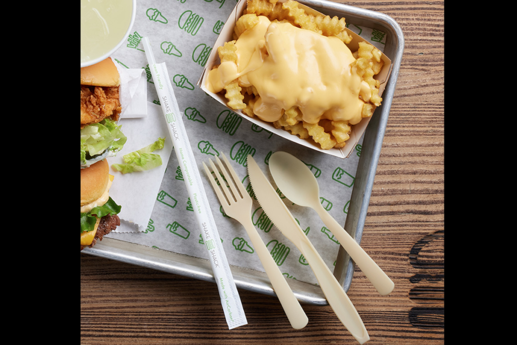 Shake Shack will pilot sustainable straws and cutlery at select locations in California, New York and Florida. Photo Courtesy of Shake Shack