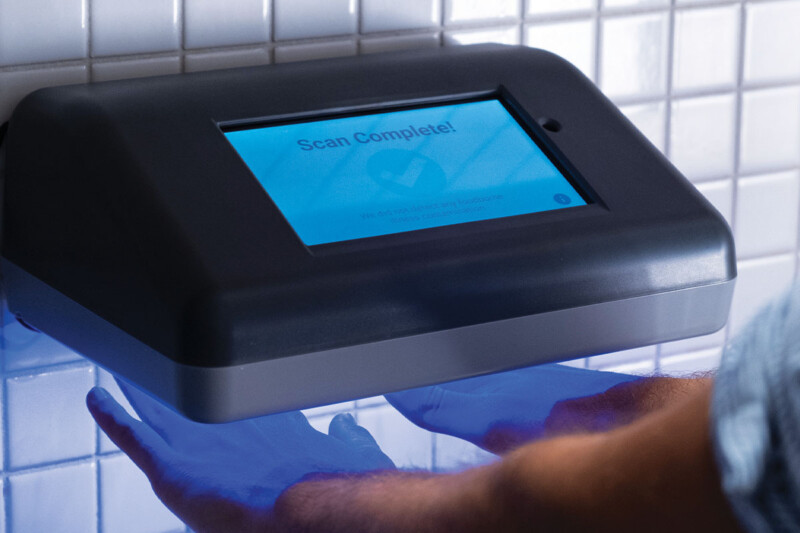 Signs may soon ask employees to wash, dry and scan their hands. In two seconds, PathSpot uses light florescence spectroscopy, an imaging technique borrowed from healthcare, to detect contaminants that spread illnesses. It also collects data to tell you how well, often and effectively your team's hand-washing practices are. PathSpot / pathspottech.com