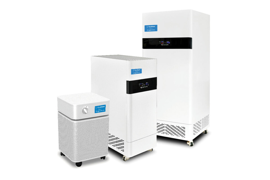 PuraShield air purification units roll into place and use multistage filtration— from a prefilter to trap dust, pollen and other large particulates to a final HEPA filter—to remove nearly all aerosols carrying viruses from air entering the unit. Unified Brands / unifiedbrands.net