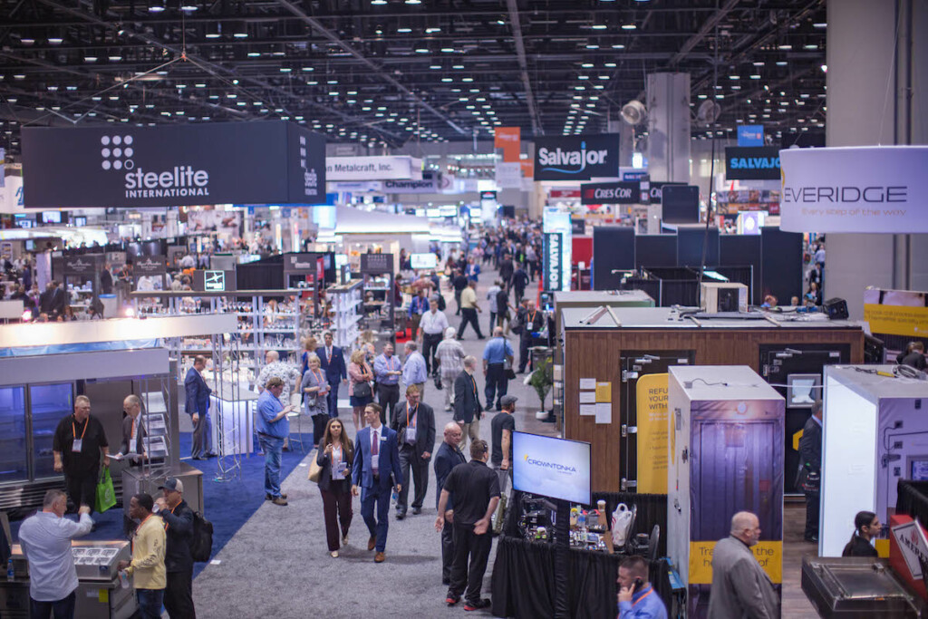 Organizers expect The NAFEM Show 2021 to be about the half the size of the 2019 offering (pictured here). Photo courtesy of NAFEM.