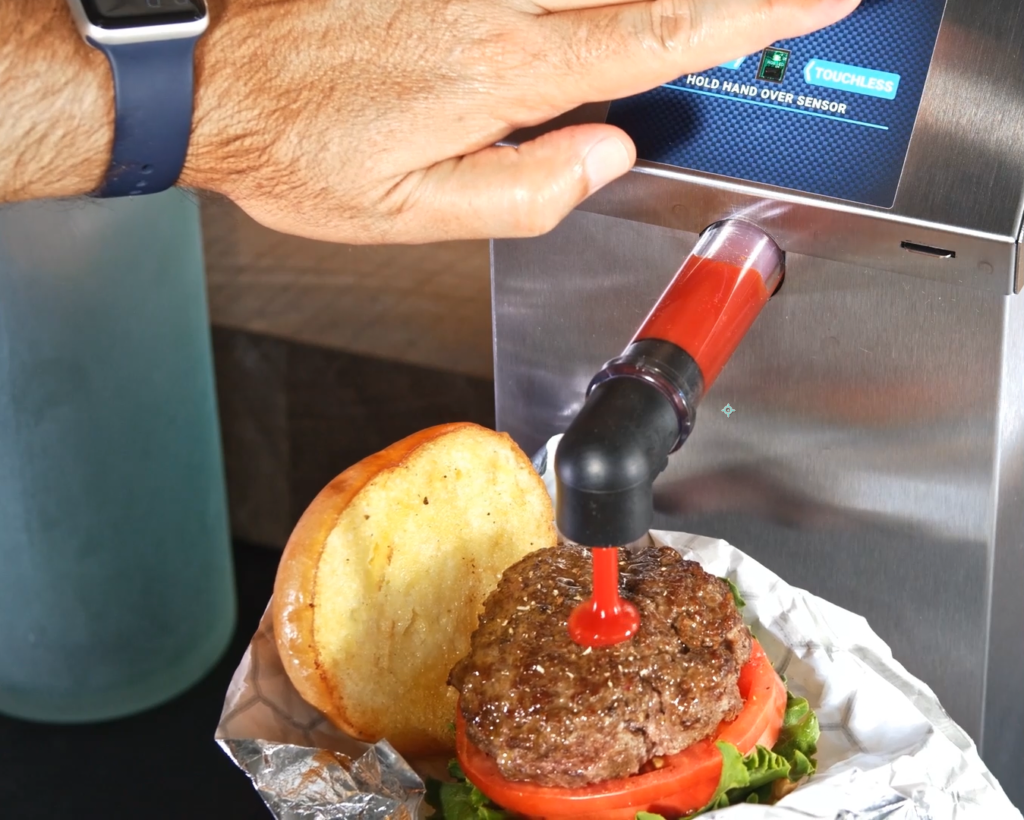 Touchless Express Dispenser in use