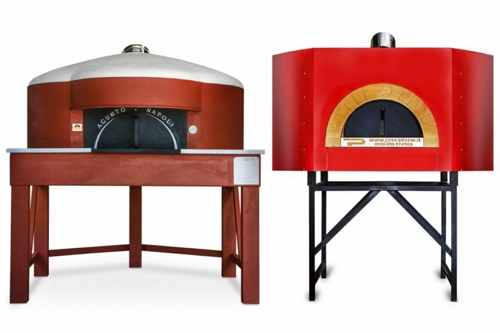 Forza Forni's commercial ovens Acunto Angolare 130 Model and the Pavesi Twister 135 Wood/Gas. (Photos Courtesy of Forza Forni)