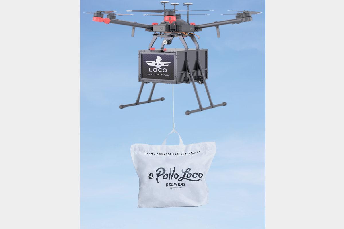 El Pollo Loco Air Logo Drone skybWEB