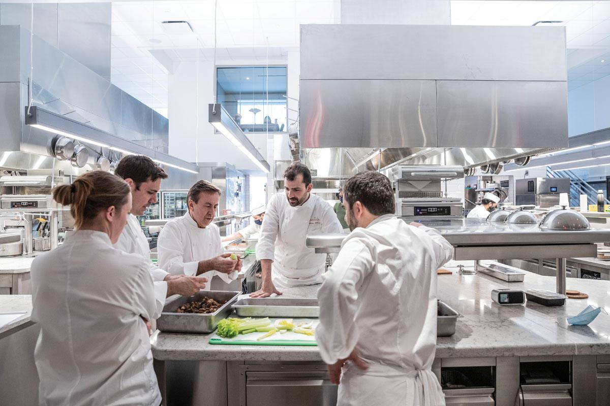 Next Step Design Le Pavillon Chefs in kitchen 1 5.17.21 Thomas SchauerWEB